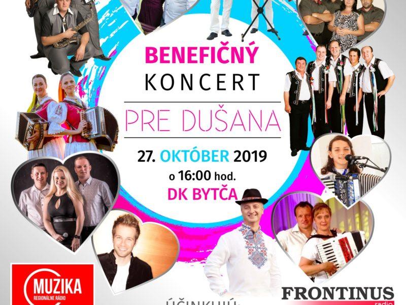 Benefičný koncert pre Dušana